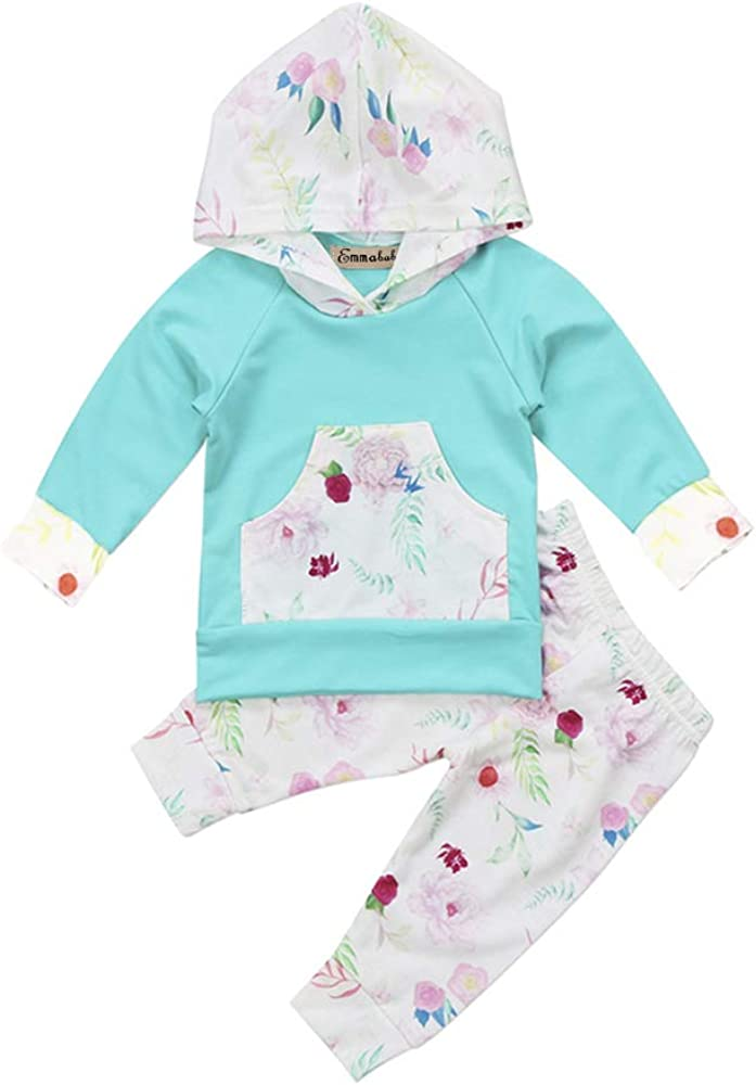 Baby Girl Long Sleeve Outfits Girls Hoodie Tops and Pants Winter Clothes