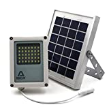 Solar Flood Light ALPHA 180X // Solar Security Light // LED Flood Light, Solar Powered - for Farm Area, Yard, Home Garden, Remote Cabin, Alley, Public Assest with Danger Warning Signs