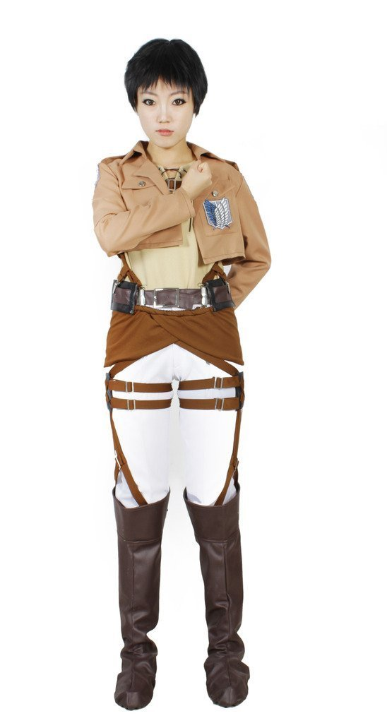 MILICA BOOKS Attack on Titan Survey Corps Eren Yeager Cosplay Costume-Size S