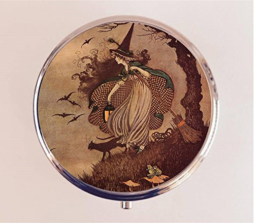 Witch Pill Box Pillbox Case Fairy Tale Children's Book Witchcraft Halloween Wicca from Fringe Pop
