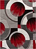 Well Woven 601005 Red Grey Yolo Modern Abstract Geometric 5'3″ x 7'3″ Area Rug Review