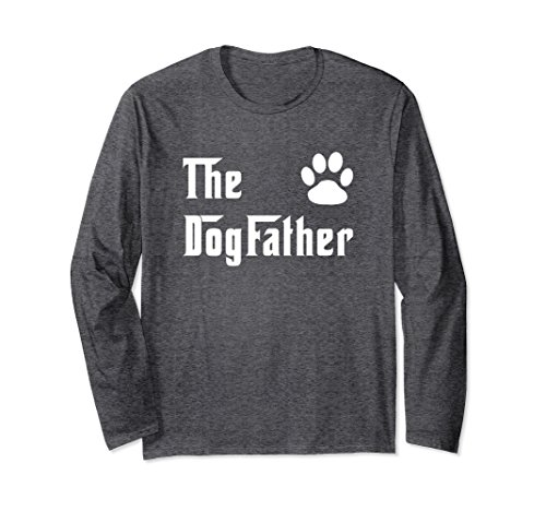 Unisex The Dogfather Long Sleeve Tee Dog Lover Gift Shirt Small Dark - Dogfather Co &
