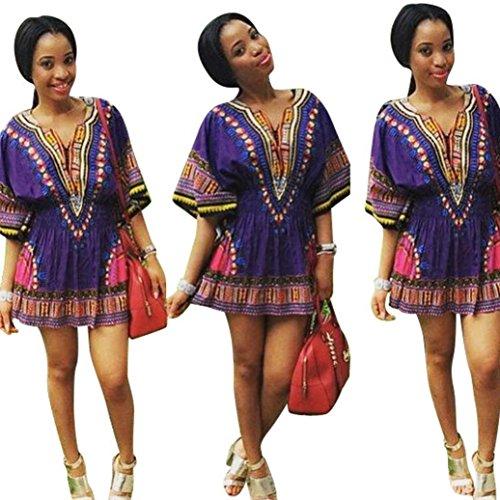 Purple African Dress: Amazon.com