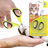 ANYFONG Dog Nail Clippers and Trimmer for Small Animals - Dogs - Cat - Rabbit - Bird - Puppy - Kitten - Ferret - Puppy - Kitten Clippers for Paw Grooming - Cat Claw Clippers Scissors & Nail Cutter