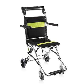 Silla de ruedas Rampas Manual Ancianos Scooter Ligero Y Discapacitado Viajes De Negocios De Múltiples Funciones Puede Estar En El Avión Coche Carga 75kg ...