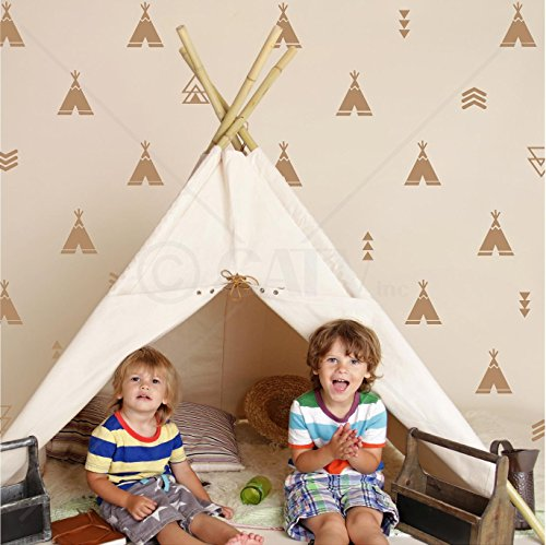 Set of 68 Tribal Decals Teepee arrow tri - Caramel Wall Shopping Results