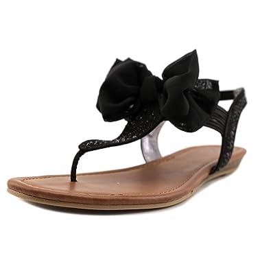 3715c95a49d Material Girl Womens Swan Split Toe Casual T-Strap Sandals