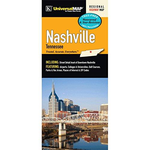 Nashville, TN Waterproof Fold Map (Kappa Map)