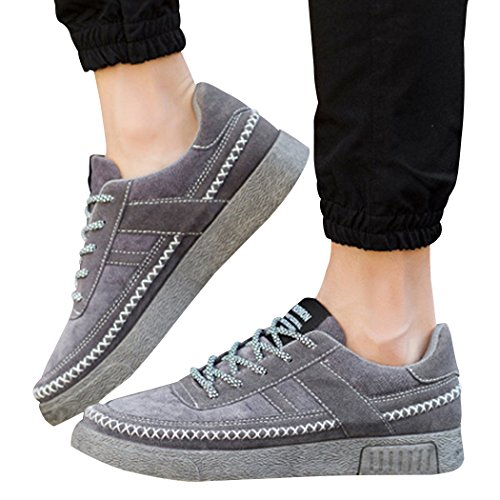 up Top Mens Lace Flats Low Skate Fashion Canvas Casual Shoes New Lorence Sneakers Sun Grey Breathable w1FzqXX