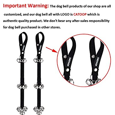 Dog Bells, Potty Bells Dog Doorbells for Dog Training Adjustable Door Bell for Puppy with Collapsible Travel Pet Cat Dog Bowl