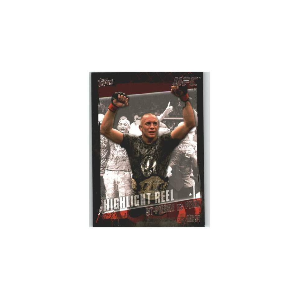 UFC Trading Card # 183 Georges St Pierre vs BJ Penn (Ultimate Fighting