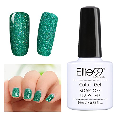 Elite99 Soak Off UV LED Gel Polish Bling Neon Color Nail Var
