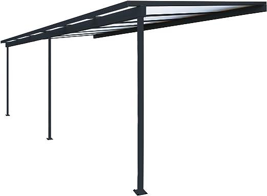 Pérgola de aluminio para fijar al techo, adosada, de policarbonato ...