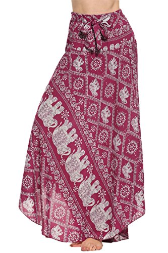 SE MIU Boho Gypsy Long Maxi Tiered Skirt ()