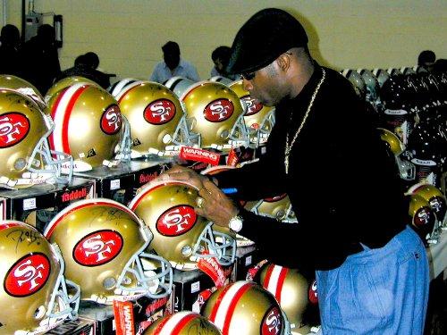Deion Sanders Autographed Helmet - 49ers Pro Line Authentic