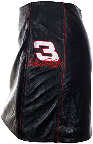 Vintage Dale Earnhardt Sr. #3 Women's Smooth Black Leather Skirt (Small)