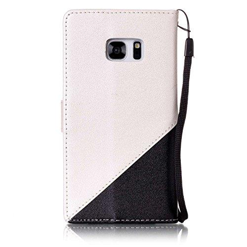 Sunroyal ® Funda para Galaxy S7 PU Leather Cuero Flexible Suave Case [Anti-Gota] Ultra Slim Bookstyle Flip Caso Samsung S7 Carcasa Cierre Magnético,Función de Soporte,Billetera con Tapa para Tarjetas  A-02