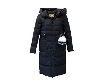 ERQINGYF Abrigo De Algodon Invierno Largo Abrigo De Nieve De Las Mujeres Abrigo con Capucha Forro