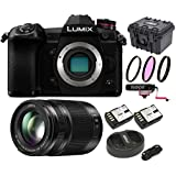 PANASONIC LUMIX G9 Mirrorless Camera Body + H-HSA35100, F2.8 II ASPH 35-100mm POWER Optical I.S, 128GB Vid