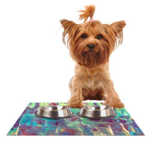 Kess InHouse Rosie Brown Splash  Feeding Mat for Pet Bowl, 24 by 15-Inch