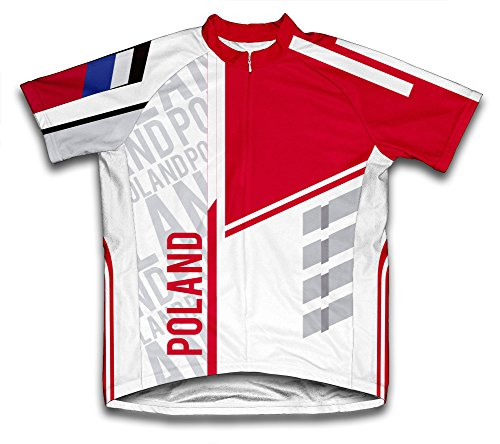 (ScudoPro Poland Short Sleeve Cycling Jersey for Men - Size XL)