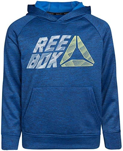 Reebok Boys' Sweatshirt – Fleece Pullover Fashion Hoodie Designs and Logos