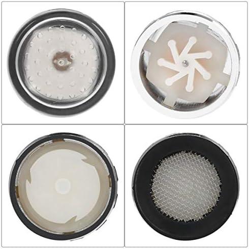 3色LEDライト変更蛇口シャワー水タップ温度センサーバッテリーなし水蛇口グローシャワー左ネジシルバー