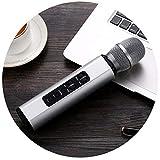 K6 wireless audio one microphone TV national karaoke artifact,Silver gray
