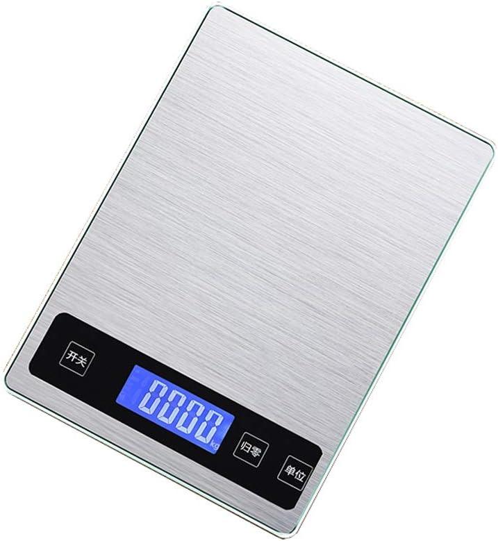 ZEQUAN Báscula De Cocina Básculas Electrónicas para Hornear, Básculas para Cocinar Alimentos, Impermeable, Acero Inoxidable, Precisión (Size : 5kg/1g)