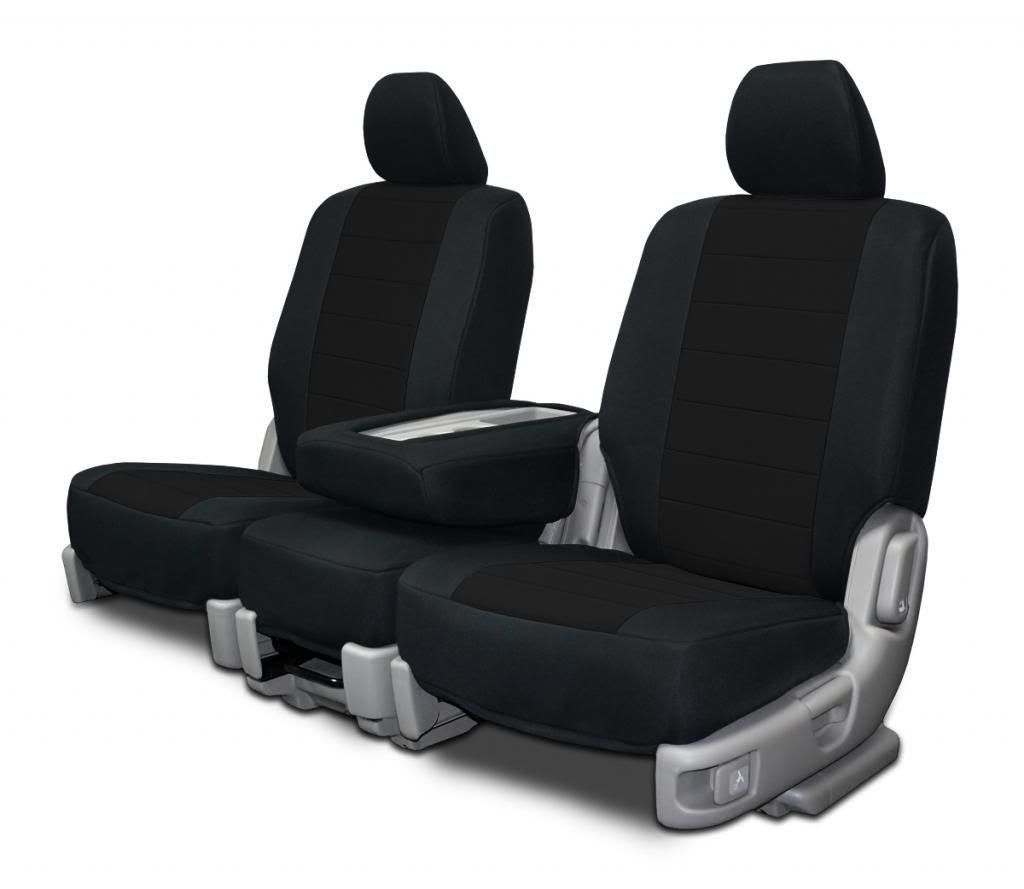 Silver Neoprene Fabric Custom Fit Seat Covers For Ford F-150 40-20-40 Seats