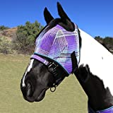 Kensington Fly Mask with Web Trim Medium Dark Blue