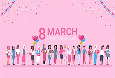 Amazoncom Csfoto 8x6ft Background For Happy Womens Day March 8