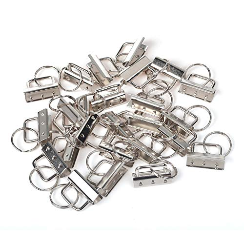 CRIVERS 30PC Key Fob Hardware and Wristlet Sets with Key Rings (1.25 inch) ()