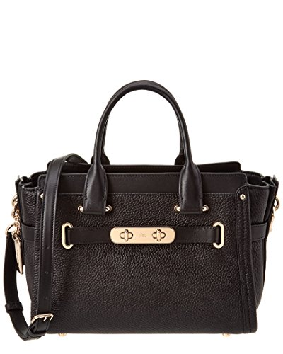 coach-womens-pebbled-leather-coach-swagger-27-li-black-satchel