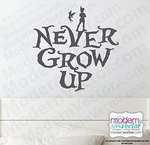 Amazon com: Peter Pan never grow up Disney Quote Vinyl Wall Decal