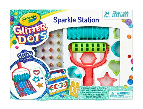 Crayola Glitter Dots Sparkle Station, Glitter Craft Kit, Gift for Kids, 6, 7, 8, 9 JungleDealsBlog.com
