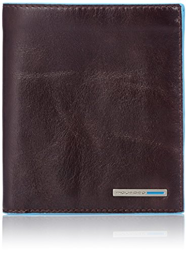 Piquadro Vertical Men's Wallet with Banknote Compartments and Credit Card Slots, Mahogany, One Size by Piquadro