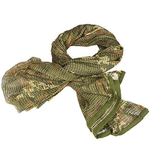 UNIQUEBELLA Camouflage Neckerchief Netzschal Tarnschal