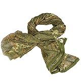 UNIQUEBELLA Tactical Camouflage Mesh Net Head Scarf Sniper Face Veil Cover Neckerchief Netzschal Tarnschal CP Camo