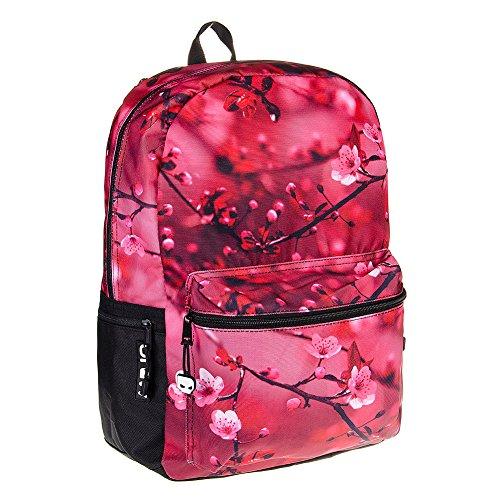 Mojo Cherry Blossom Rucksack (Pink) - 43 x 30.5 x 16.5 cm