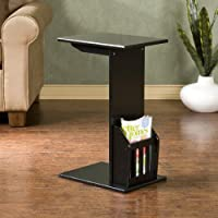 Magazine Snack Table For Sofa Side - Black