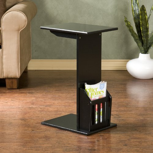 FurnitureMaxx Magazine Snack Table Sofa Side - Black