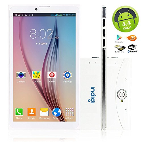 Indigi 7.0in White 2-in-1 Android 3G Smart Phone Tablet PC (Factory Unlocked) US Seller by inDigi