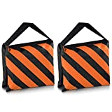 Neewer® Set of Two Black/Orange Heavy Duty Sand Bag Photography Studio Video Stage Film Sandbag Saddlebag for Light Stands Boom Arms Tripods
