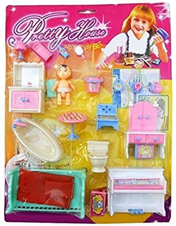 DGP Traders Pretty House Furniture Kit for Kids (Multicolor)