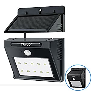Extended-10-LED-Solar-Sensor-Powered-Wall-Lights-TFNUO-Wireless-Security-Light-Weatherproof-Motion-Sensor-Lighting-w-Separately-Installed-for-OUTDOORINDOOR