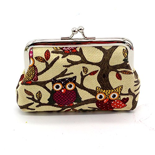 TheRang Women Lady Small Wallet Hasp Owl Purse Clutch Bag
