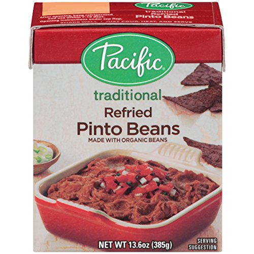 Pacific Foods Organic Refried Pinto Beans Vegetarian, 13.6-Ounce Boxes, (Pack of 12) (Instant Bean)
