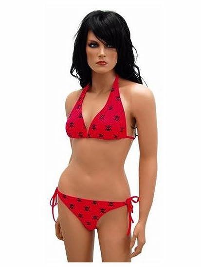 Mort Et Accessoires RougeVêtements Bikini Tête De rdshCxQt