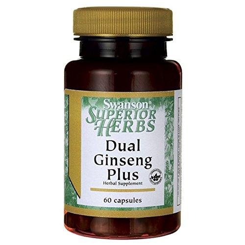 Swanson Dual Ginseng Plus 60 Capsules